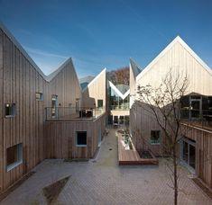 Healthcare Center for Cancer Patients by NORD Architects. Sieht passend aus für Gesundheitscentrum.