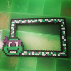 TMNT picture frame perler beads by wildcard_whimsys