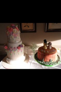 Our wedding cakes :)