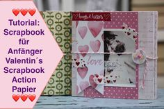 Heute mal ein Tutorial... Tutorial Scrapbook, Mini Albums, Blog, Free, Action, Cover, Decor, Youtube, Paper