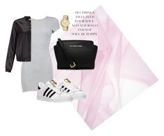 """Untitled #4"" by lucinkastastna on Polyvore featuring Boohoo, Miss Selfridge, adidas, Michael Kors and MICHAEL Michael Kors"