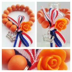Inspiration: Dutch bracelets for King's Day by Bengeltjes & Beads. Birthday Souvenir, Dutch Tulip, King Birthday, Kids Jewelry, Kings Day, Happy Colors, Brighten Your Day, Birthday Party Themes, Diy And Crafts