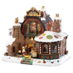 Mrs Claus Kitchen By: Lemax Villages Village Lemax, Christmas Village Display, Christmas Village Houses, Christmas Villages, Christmas Decorations, Holiday Decor, Christmas Gingerbread, Christmas Home, Pink Christmas