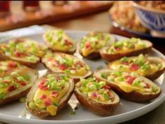 """Potato Skins with Beer Cheese (Brother vs. Brother) - Valerie Bertinelli, """"Valerie's Home Cooking"""" on the Food Network. Top Recipes, Cheese Recipes, Cooking Recipes, Cooking Food, Potato Recipes, Copycat Recipes, Vegetable Recipes, Yummy Recipes, Comic"""