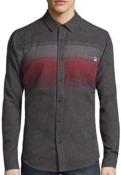 Dc Shoes DC Shoes Co. Long-Sleeve Horizon Woven Button-Down Shirt 0000f61ac2d