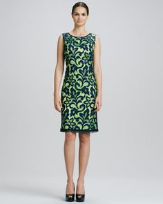 Alyse Paisley Lace Sheath Dress  by Elie Tahari at Bergdorf Goodman.