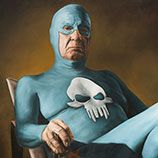 Swedish artist Andreas Englund created a series of paintings featuring an old superhero.