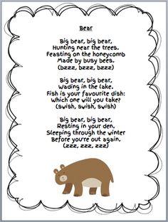 Grade ONEderful: Bear Unit Bear Freebies from my Week. Lots of ideas and freebies for a bear unit in a first grade class. Bears Preschool, Preschool Music, Preschool Activities, Therapy Activities, Winter Songs For Preschool, Teddy Bear Day, Teddy Bears, Teddy Bear Poem, Pooh Bear