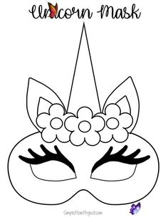 Unicorn Face Masks with FREE Printable Templates - Simple Mom Project Click on this post for DiY FREE printable unicorn mask templates. Watch your kids masquerade in their customized unicorn coloring page. They are terrific for birthday parties or a Halloween costume!<br> Check out this post for FREE printable Unicorn Face Mask templates! Comes with two cut-out templates AND coloring sheets for kids of all ages! Printable Masks, Unicorn Printables, Free Printables, Printable Templates, Printable Halloween Masks, Masque Halloween, Costume Halloween, Halloween Unicorn, Diy Costumes