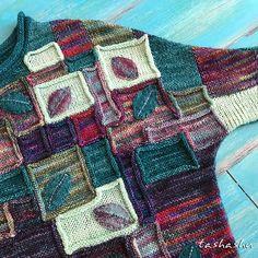 Стирки: круглый воротник негабаритных свитер с рисунком Светланы Гордон
