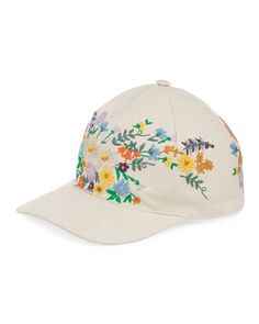 f238f63c4bc Canvas Baseball Hat w  Floral Embroidery Embroidery Kits