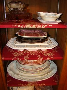 Open Gates Farm Bed & Breakfast | Vintage Red Transferware Serveware