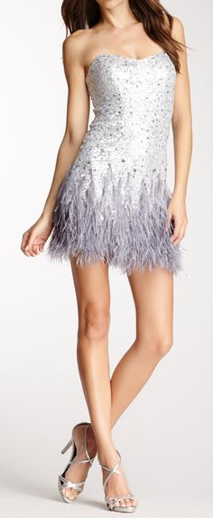Sequins + feathers
