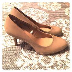 Heels!  Nude Merona heels! Only worn a handful of times! Great condition! Merona Shoes Heels