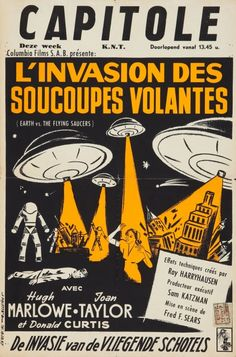 Earth vs. the Flying Saucers (Columbia, 1956). Belgian movie poster.