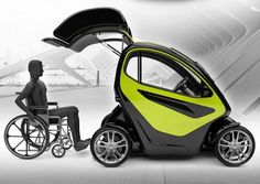 EQUAL: A Compact Electric Vehicle Specially Designed For People With Disabilities | Inhabitat - Sustainable Design Innovation, Eco Architecture, Green Building