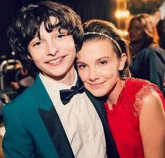 Finn Wolfhard and Millie B. Brown - Cute kids :3