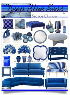 """Deep Blue Seas"" by reddotdaily on Polyvore"