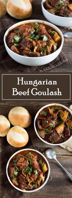 Hungarian Beef Goulash recipe via Fox Valley Foodie Meat Recipes, Dinner Recipes, Cooking Recipes, Healthy Recipes, Fodmap Recipes, Cooking Tips, Holiday Recipes, Recipies, Slow Cooker Beef