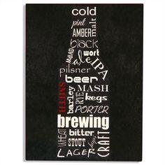 Personalized Aluminum Beer Bottle Bar Sign