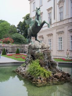 Salzburg, Austria ~ this is the statue that Maria and the children danced around in 'The Sound of Music'