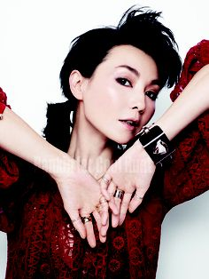 Maggie Cheung- shades of pink.