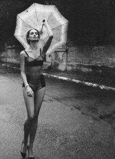 High waist panty, longline bra. Umbrella Photo # lingerie