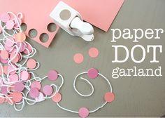 paper dot garland. love. <3