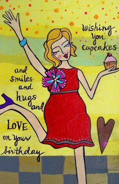 Greeting Card  Birthday Cupcakes by loriportka on Etsy, $4.00
