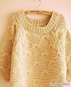 Пуловер из толстой пряжи - Вяжем вместе он-лайн - Страна Мам  СПИЦЫ