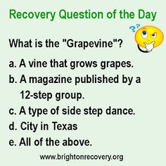 Brighton Center For Recovery: Recovery Question of the Day