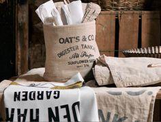 old fashioned feed sacks