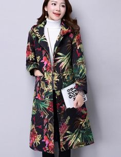 Special offer Hot Sale New Brand Sprint Trench Coat For Women Fashion Vintage Floral Print Ladies Trench Single Breasted Windbreaker Femme just only $29.87 with free shipping worldwide  #womanjacketscoats Plese click on picture to see our special price for you