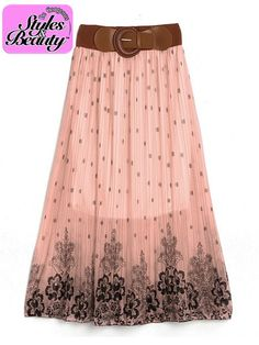 Women Pleated Floral Printing Bohemia Casual Skirt Beach Party Dress via Be Gorgeous Styles By Mimmie. Click on the image to see more!