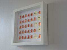 """Image of Bears/Stars - Medium (9"""" sq.) - 'Round and Round the Garden' - Orange with Cream Stars"""
