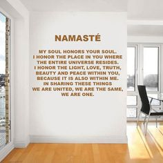 Absolutely original 3D cork letters NAMASTE, wall decor, motivation quotes on the wall