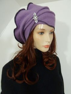 Unique slouchy chic lagenlook lilac boiled wool by whitebagheera, $64.00