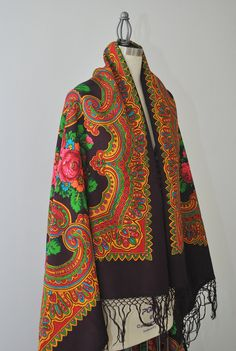 Vintage Russian wool shawl via Etsy.