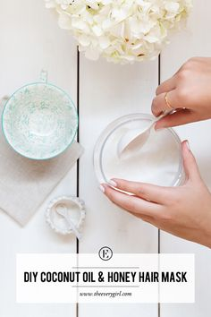 Homemade Coconut Oil and Honey Hair Mask #theeverygirl