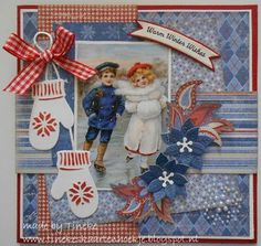 Tineke's kaartenhoekje: Warm winter wishes Homemade Christmas Cards, Christmas Items, 3d Cards, Christmas Scrapbook, Marianne Design, Graphic 45, Vintage Cards, Scrapbook Pages, 3 D
