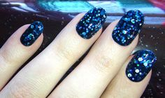 For me! The Bends is a sheer polish with holographic glitter by Super Black Handmade Lacquers.