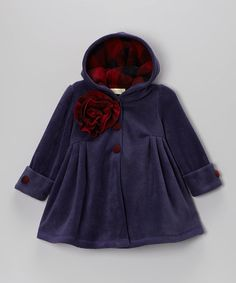 Take a look at this Purple Riding Hood Coat - Toddler & Girls by Maria Elena on #zulily today!