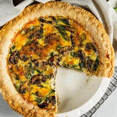 Quiche met champignons | Koolhydraatarm | Makkelijk Afvallen No Carb Recipes, Vegan Recipes, Quiches, Healthy Diners, High Tea, No Cook Meals, Vegetable Recipes, Tapas, Good Food