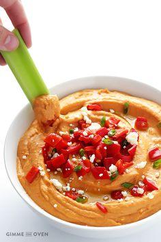 Buffalo Sauce Hummus