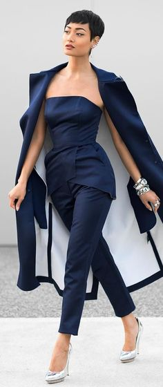 Monday Blues Chic Outfit by Micah Gianneli