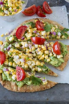 Southwestern Flatbread with Fresh Corn - perhaps the easiest and most delish dinner ever - from www.whatsgabycooking.com (@whatsgabycookin)