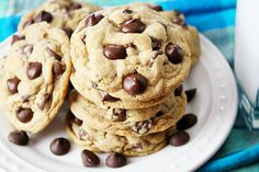 The ULTIMATE Chocolate Chip Cookies -- my all-time favorite chocolate chip cookies!! (Ps-they'll turn out the exact same whether you make them the traditional way, or the gluten free way!!)