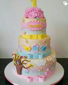 Fairy Garden Cake, Garden Cakes, Butterfly Birthday Party, Baby Birthday Cakes, Beautiful Cakes, Amazing Cakes, Bolo Da Minnie Mouse, Champagne Homecoming Dresses, Mothers Day Cake