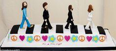beatles themed wedding cake | Mark and Rebecca's wedding cake was based on the Beatle's 1969 album ...