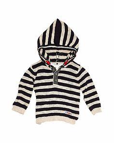 Pumpkin Patch Boys' Navy Hooded Sweater